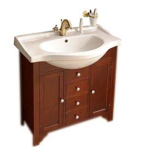 Koupelnová skříňka pod umyvadlo Sapho Galanta Tellus 80x30 cm mahagon 1695