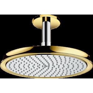 Hlavová sprcha Hansgrohe Raindance Classic strop včetně sprchového ramena chrom/vzhled zlata 27405090