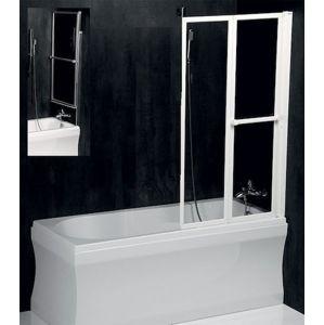 Polysan LANKA2 pneumatická vanová zástěna 820 mm, stříbrný rám, čiré sklo,37817