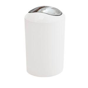 Odpadkový koš volně stojící Kleine Wolke Glossy 5 l bílá 5063115858