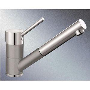 Dřezová baterie Blanco ANTAS - S s vytahovací sprškou aluminium/chrom 515349