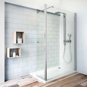 Boční zástěna ke sprchovým dveřím 140x202,5 cm Roth Tower Line chrom lesklý 745-1400000-00-02