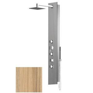 Sprchový panel Sapho FLAT CUBE na stěnu s termostatickou baterií kokos 80722-0335