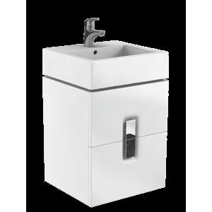 Koupelnová skříňka pod umyvadlo Kolo Twins 50x46x57 cm bílá lesk 89489000