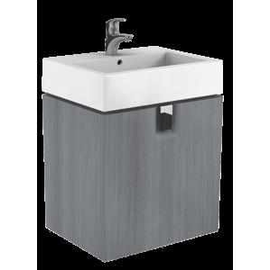 Koupelnová skříňka pod umyvadlo Kolo Twins 60x46x57 cm grafit stříbrný 89499000