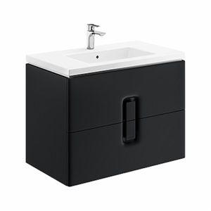 Koupelnová skříňka pod umyvadlo Kolo Twins 80x46x57 cm černá mat 89555000