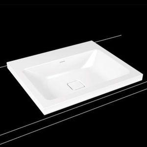 Umyvadlo na desku Kaldewei Cono 3083 60x50 cm alpská bílá bez otvoru pro baterii, bez přepadu 901906003001