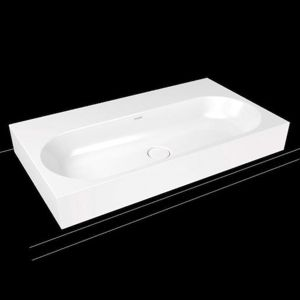 Umyvadlo na desku Kaldewei Centro 3058 90x50 cm alpská bílá bez otvoru pro baterii, bez přepadu 903106003001