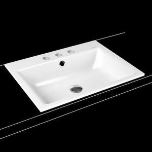 Umyvadlo na desku Kaldewei Centro 3058 90x50 cm alpská bílá bez přepadu 903106033001