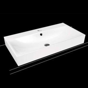 Umyvadlo na desku Kaldewei Silenio 3043 90x46 cm alpská bílá bez otvoru pro baterii, bez přepadu 904206313001