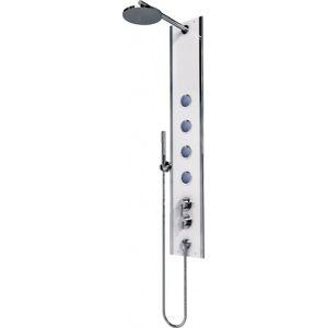 Sprchový panel Teiko Boss Eco do rohu s pákovou baterií aluminium V262138N92T02011