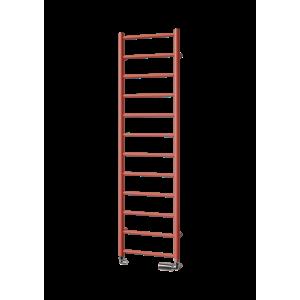 ISAN AURA Radiátor pro ústřední vytápění,138x40cm, červená DDIN18600500X1