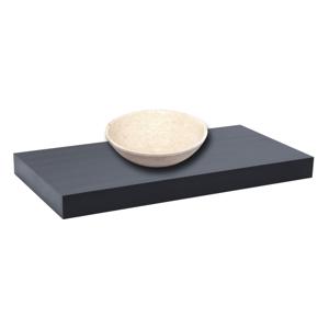 Deska pod umyvadlo bez umyvadla Naturel Dolce 80x8x50 cm černá mat DO8050BL