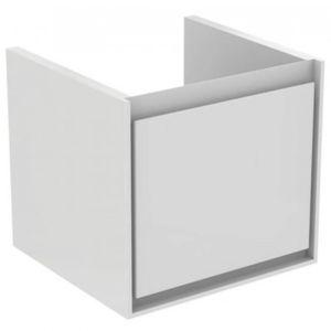 Koupelnová skříňka pod umyvadlo Ideal Standard Connect Air 43x40,2x40 cm světle šedá lesk/bílá mat E0842EQ