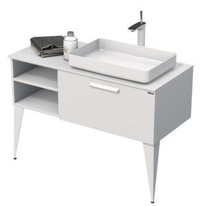 Koupelnová skříňka pod umyvadlo Naturel Luxe 110x36x50 cm bílá mat LUXE110PBMBU50