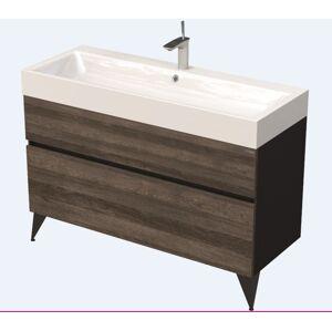 Koupelnová skříňka pod umyvadlo Naturel Luxe 120x56x46 cm černá břidlice/dřevo lesk LUXE120CDLBU