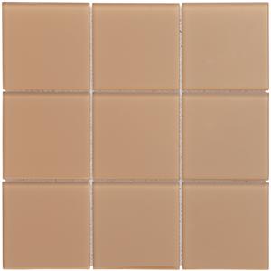 Obklad Premium Mosaic Skleněné obklady béžová 10x10 cm, lesk MOS100BE