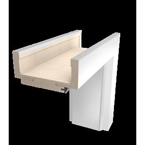 Obložková zárubeň NATUREL IBIZA O3 (140-180), 80 cm, bílá fólie, levá, O3BF80L