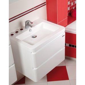 Koupelnová skříňka s umyvadlem Naturel Pavia Way 64x48,5 cm bílá PAVIA265Z