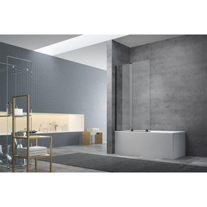 Vanová zástěna Swiss Aqua Technologies X-motion 150x75 cm černá SATWIXMVZ150C