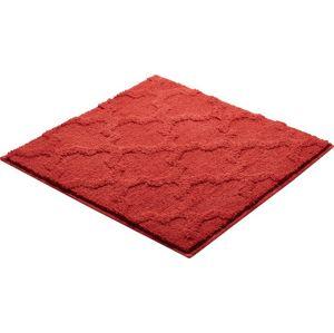 Koupelnová předložka Grund Nancy 55x55 cm červená SIKODGNAN557