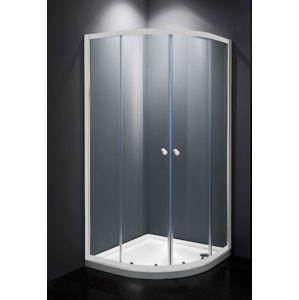 Sprchový kout čtvrtkruh 80x80x185 cm Multi Basic bílá SIKOMUS80T0