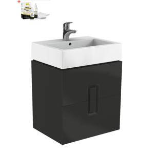 Koupelnová skříňka s umyvadlem Kolo Twins 60x70 cm černá mat SIKONKOTW602CM