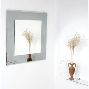 Zrcadlo s fazetou Amirro Tomáš 60x60 cm šedá 701-039